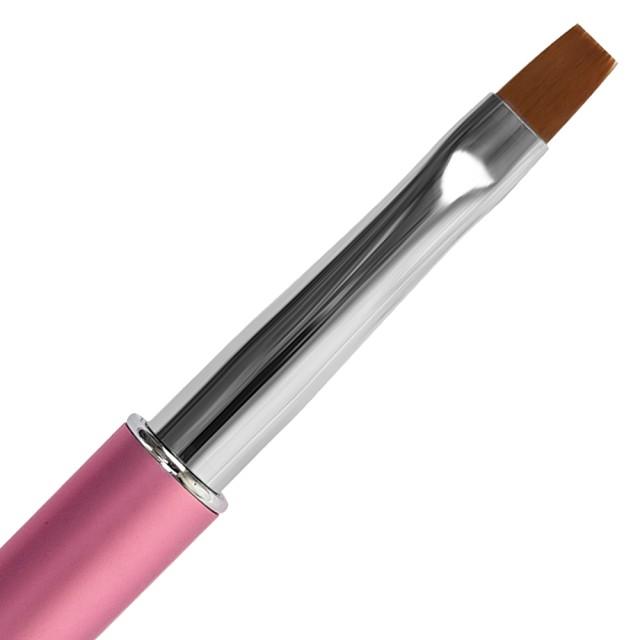 Pensula Gel cu Capac Metalic si Cristale Roz, Nr. 6 imagine produs