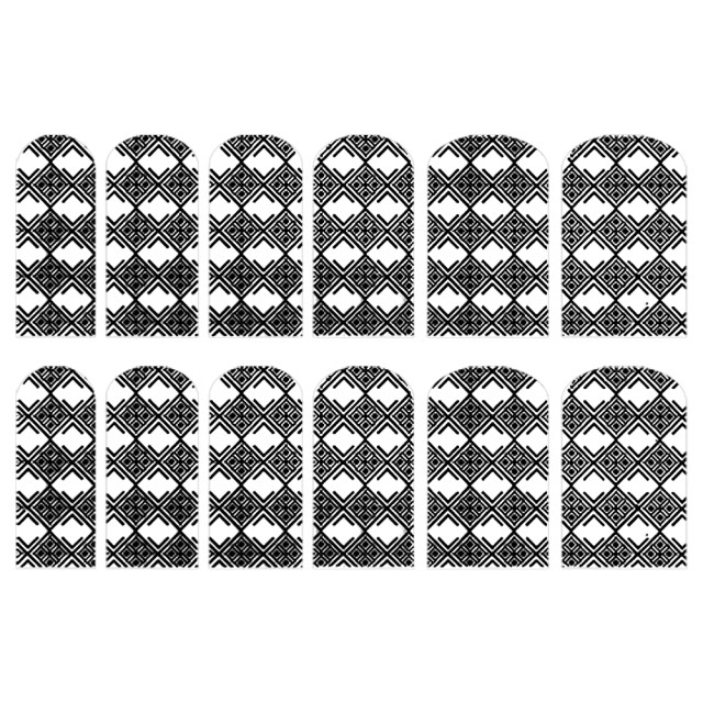 Abtibilde Unghia Intreaga 12 Buc, FD024, Stickere Unghii imagine produs