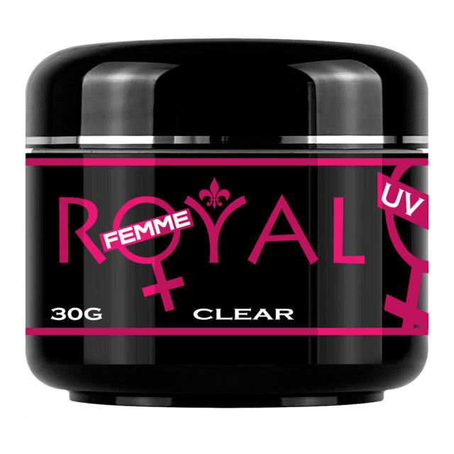 Gel UV Clear Transparent 3 in 1 Royal Femme, Baza Constructie Finish, 30 ml. imagine produs