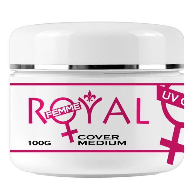 Gel UV Cover Medium Royal Femme, Camuflaj Constructie, 100ml imagine produs
