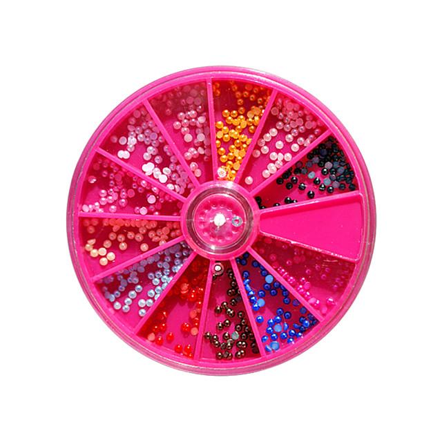 Jumatati de Perle Multicolore Unghii, Disc Nail Art imagine produs