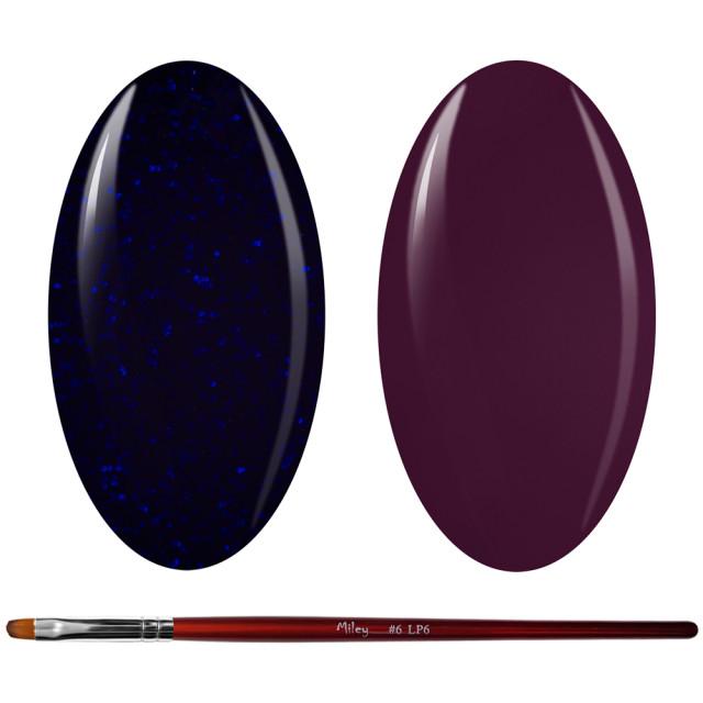 Kit Geluri Color + Pensula Gel Unghii, Cod K2GP-39G/74 imagine produs