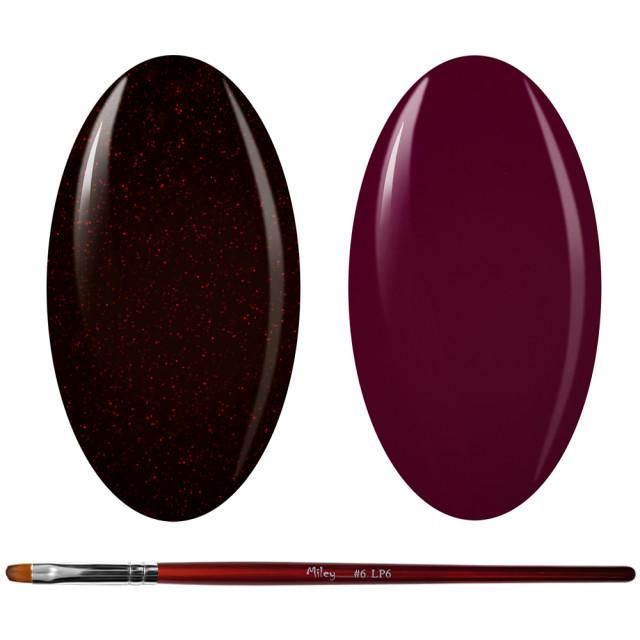 Kit Geluri Color + Pensula Gel Unghii, Cod K2GP-53G/75 imagine produs
