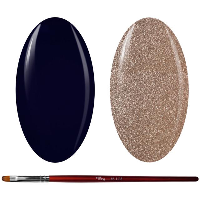 Kit Geluri Color + Pensula Gel Unghii, Cod K2GP-72/42S imagine produs