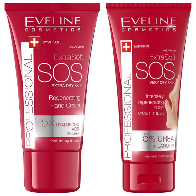 Kit Ingrijire Maini si Picioare 'SOS Extra Dry Skin' Eveline Cosmetics imagine produs