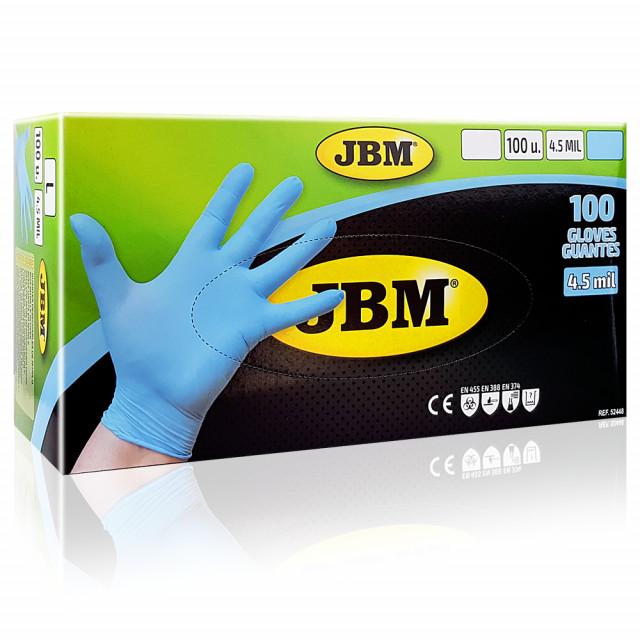 Manusi Examinare din Nitril Calitate Ridicata Albastre JBM Campllong 100 Buc imagine produs