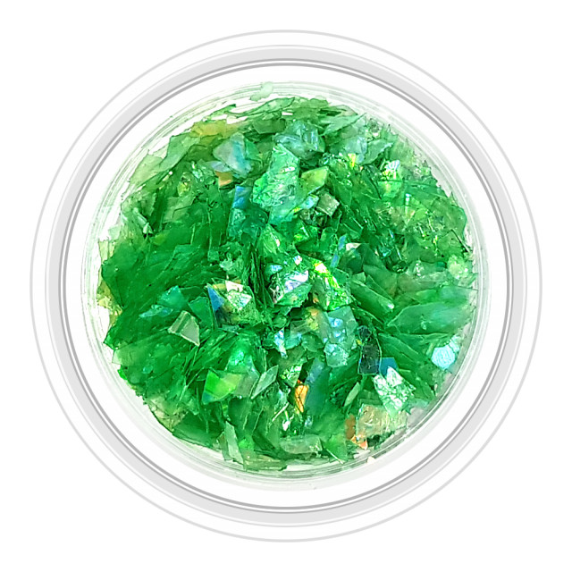 Paiete Unghii Efect de Gheata Culoare Verde Crom, Cod PG-VC 11 imagine produs