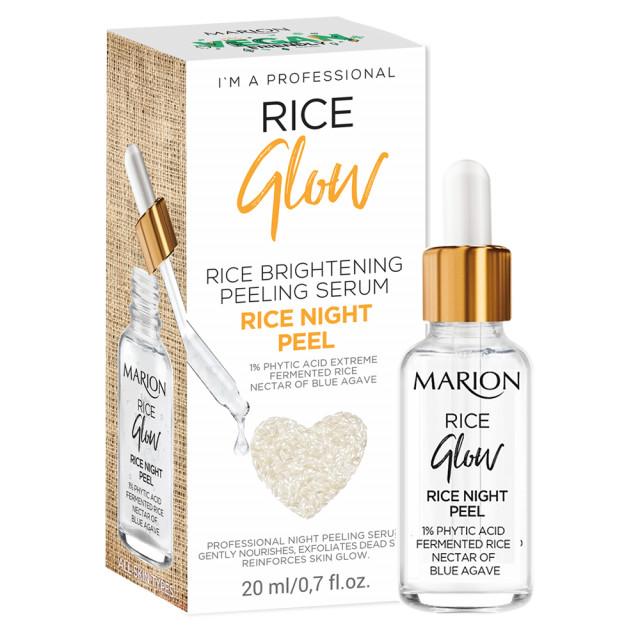Peeling Ser de Noapte Vegan cu Orez si Nectar de Agave Albastre, Rice Brightening Peeling Glow Marion imagine produs