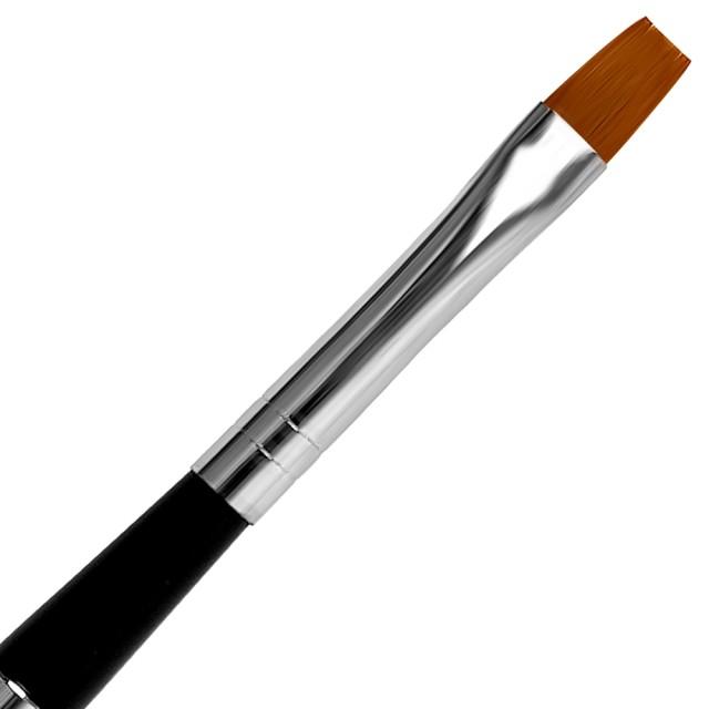 Pensula Gel Unghii Nr 6, Maner si Capac Metalic Negru imagine produs
