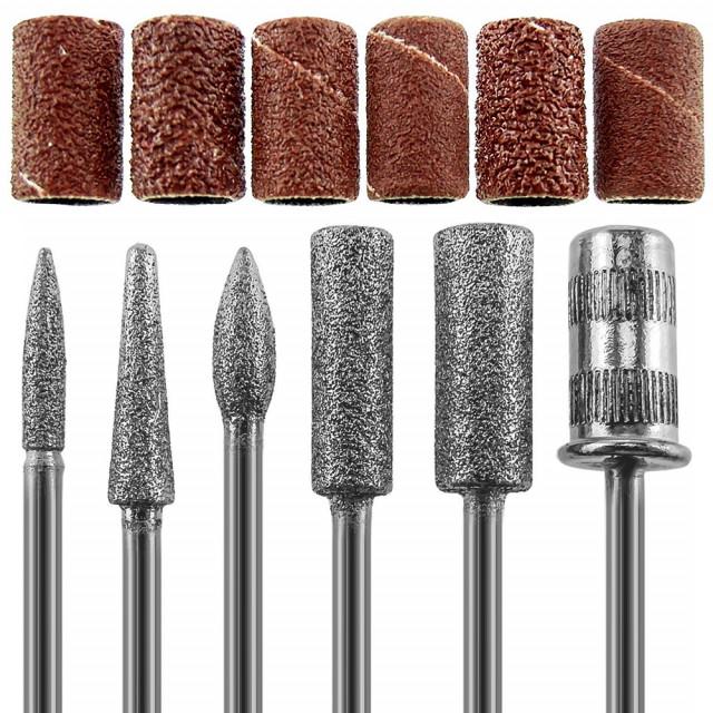 Capete Metalice Freza, Set 12 Bucati, 6 Capete si 6 Role Abrazive, Cod CF02 imagine produs