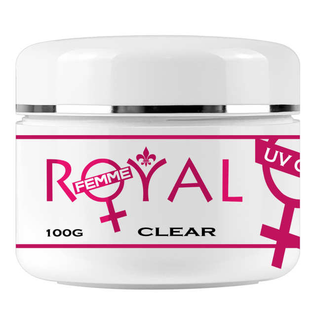 Gel UV Clear Transparent 3 in 1 Royal Femme, Baza Constructie Finish, 100 ml imagine produs