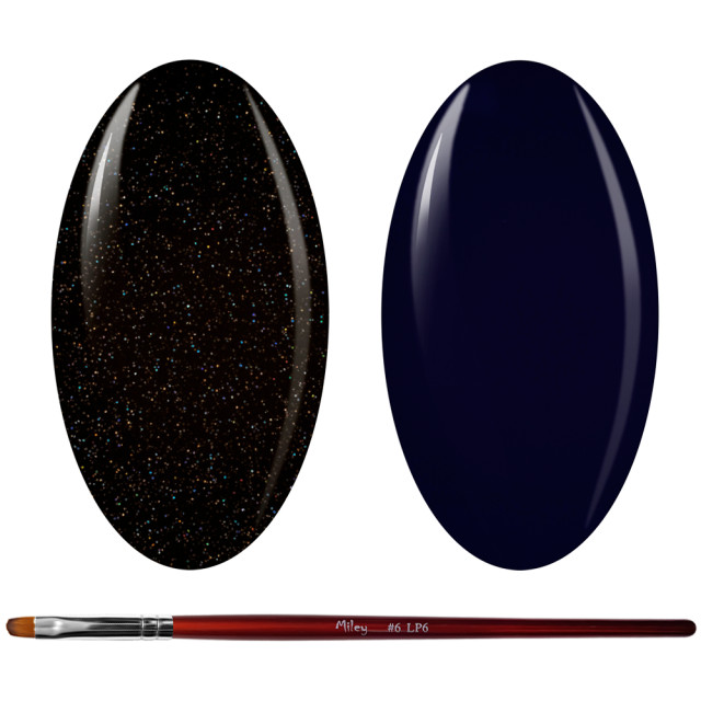 Kit Geluri Color + Pensula Gel Unghii, Cod K2GP-54G/72 imagine produs