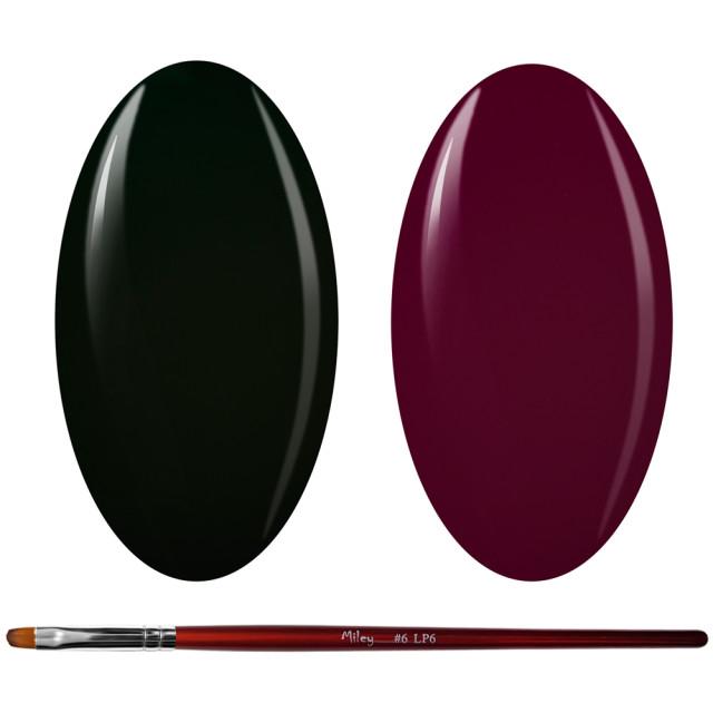 Kit Geluri Color + Pensula Gel Unghii, Cod K2GP-73/75 imagine produs