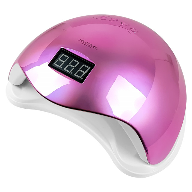 Lampa LED/UV 48Watt cu Aprindere Automata la Senzor, Aurora Pink imagine produs