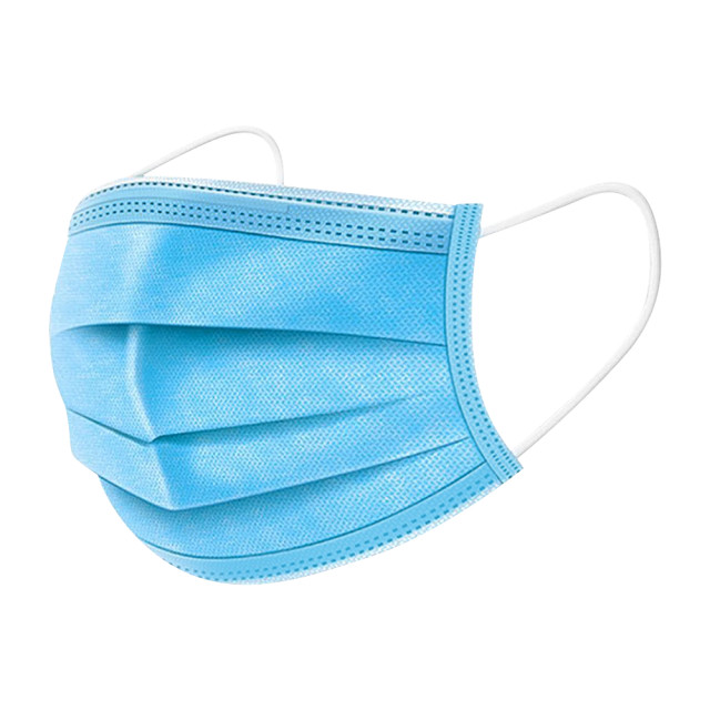 Masca Medicala Gura si Nas cu 3 Straturi, Plic 5 Bucati, Culoare Albastru imagine produs