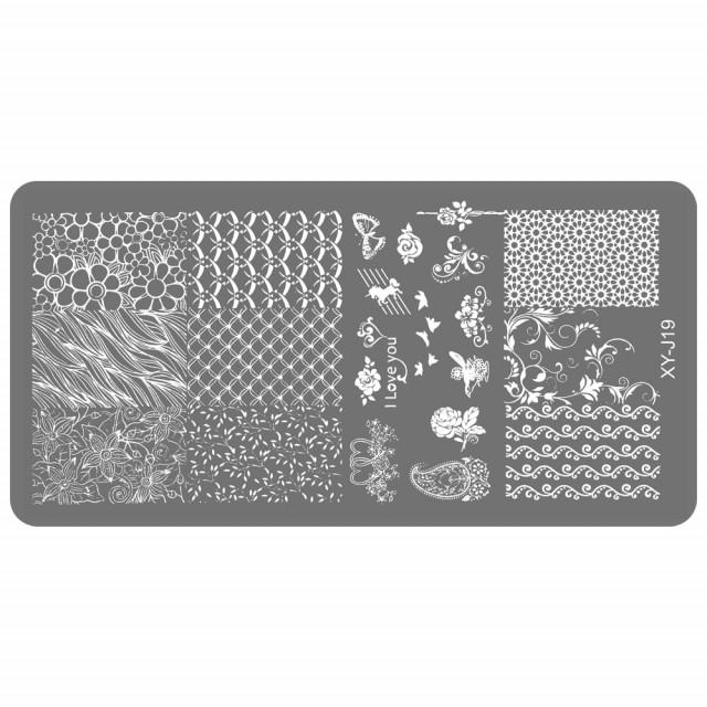 Matrita Metalica Gravata in Profunzime, Cod XY-J19, Placa Stampila Unghii imagine produs