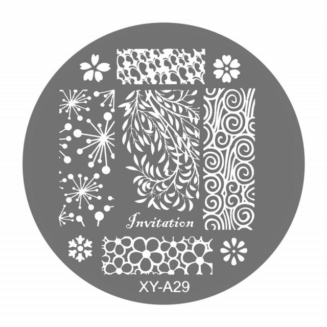 Matrite Stampile Unghii, Cod XY-A29, Accesorii Profesionale Manichiura imagine produs