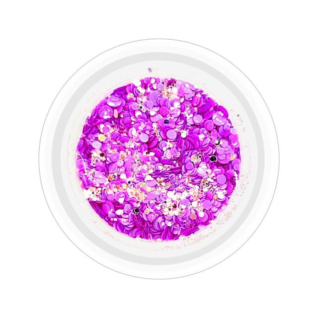 Paiete Unghii cu Sclipici Neon Cod NG-05 Culoare Mov imagine produs