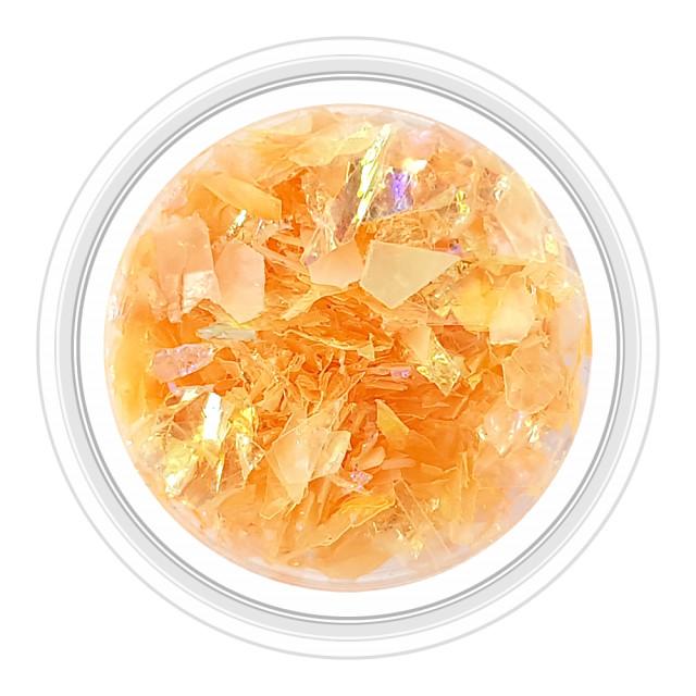 Paiete Unghii Efect de Gheata Culoare Portocaliu, Cod PG-P8 imagine produs