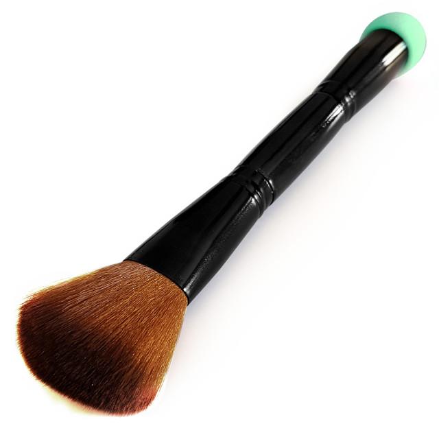 Pensula Profesionala Pudra cu Burete Blending Verde imagine produs