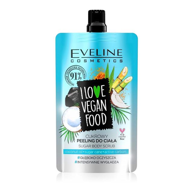 Scrub Corp Detox Vegan cu Ulei de Cocos, Zahar si Carbon Activ, Eveline Cosmetics imagine produs