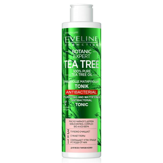 Tonifiant de Curatare Antibacteriana 3in1 Botanic Expert Tea Tree Oil 100% Pure Eveline imagine produs