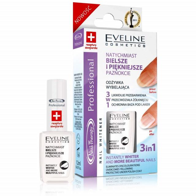 Tratament Unghii 3 in 1 Eliminarea Ingalbenirii Unghiilor si Petelor, Eveline Cosmetics imagine produs