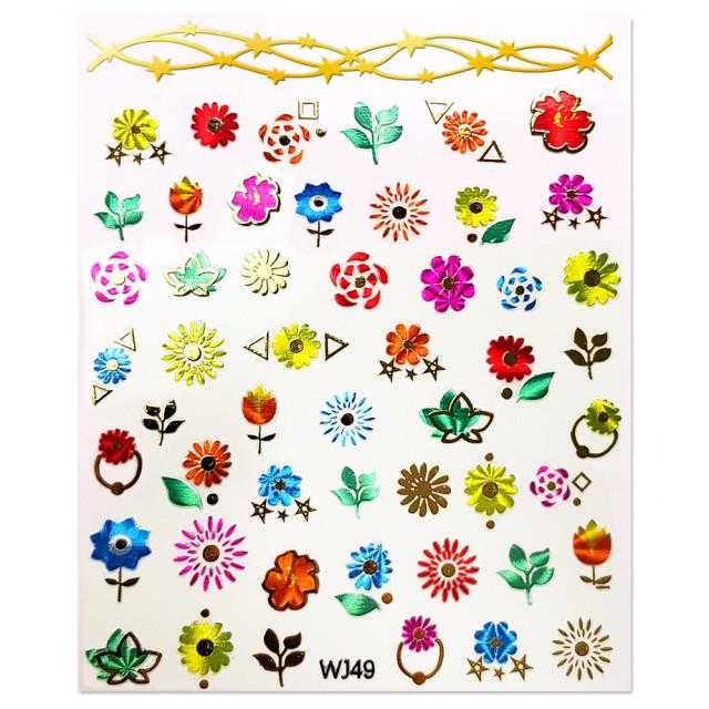 Abtibilde Unghii Motive Decorative Florale, WJ49 imagine produs