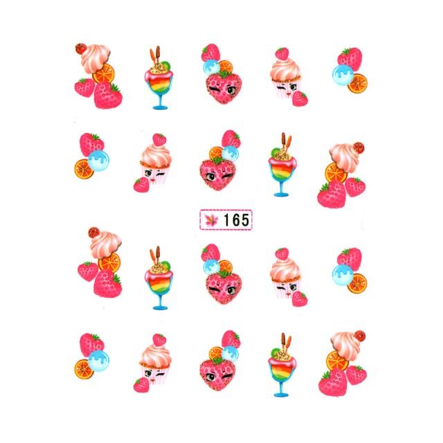 Abtibilde Unghii pe Baza de Apa, Stickere Profesionale Unghii, 165 imagine produs