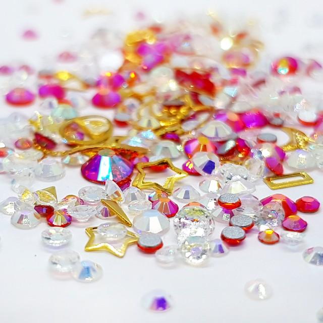 Decor Unghii, Ornamente Metalice si Pietricele, 82222 imagine produs