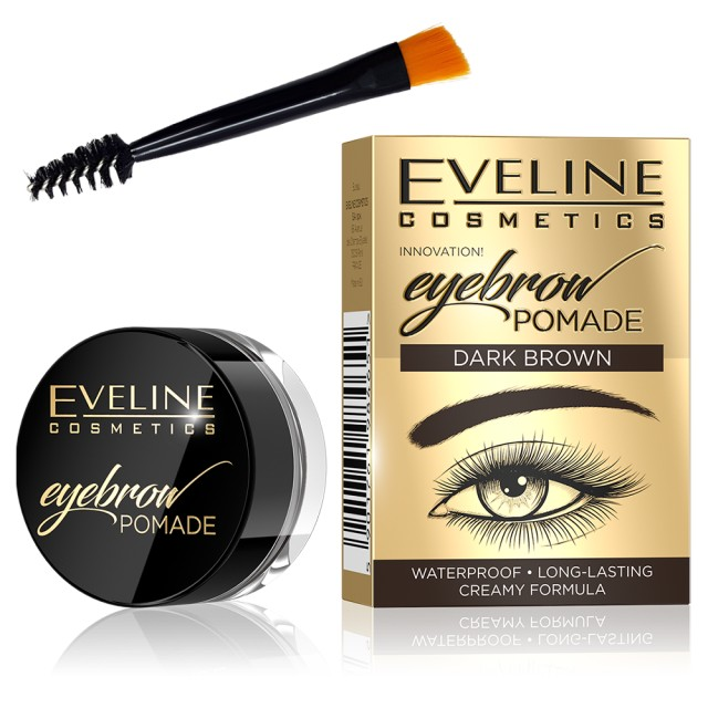 Fard Sprancene Eveline Cosmetics Eyebrow Pomade, Dark Brown imagine produs