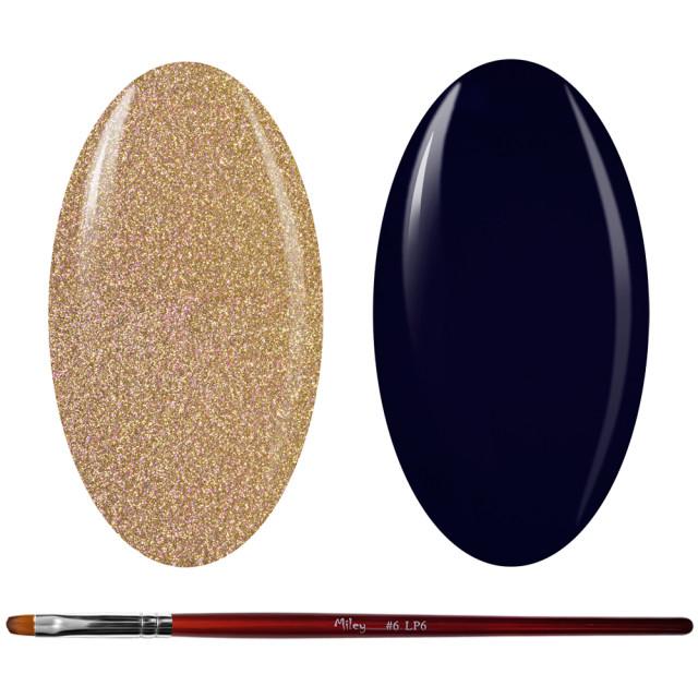 Kit Geluri Color + Pensula Gel Unghii, Cod K2GP-41G/72 imagine produs