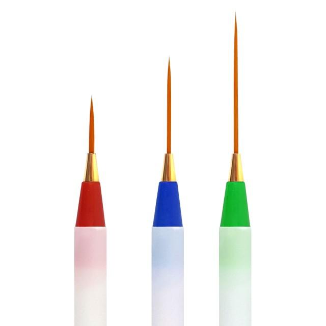 Pensula Pictura Unghii, Set 3 Buc Pensule Marimi Diferite, Miley imagine produs