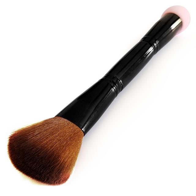 Pensula Profesionala Pudra cu Burete Blending Roz imagine produs