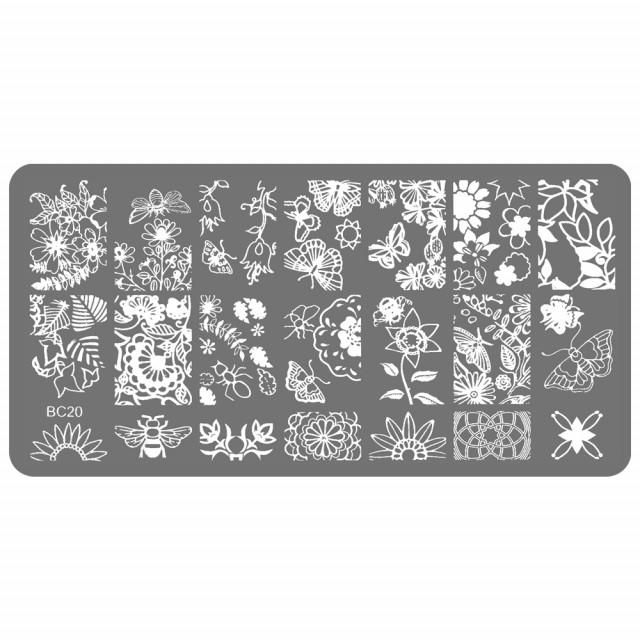 Stampile Unghii, Suport Metalic, BC20, Matrite Unghii Gravate Adanc imagine produs
