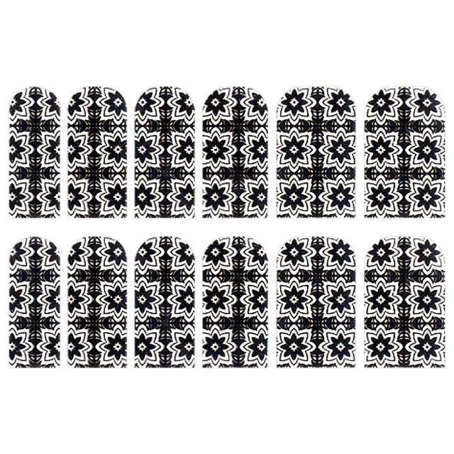 Abtibilde Unghia Intreaga 12 Buc, FD025, Stickere Unghii imagine produs
