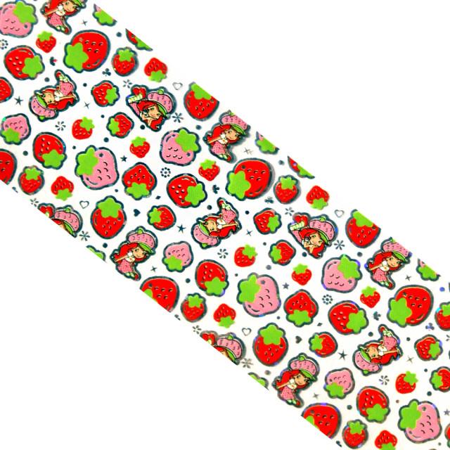 Folie Decorativa Transfer Manichiura, Happy Strawberry imagine produs