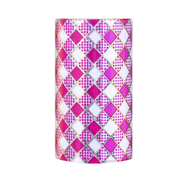 Folie Decorativa Transfer Manichiura, Rhombus Fuchsia imagine produs