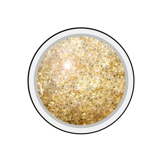 Gel colorat unghii Royal Femme ANTIQUE GOLD GLITTER (Geluri Profesionale Unghii) imagine produs