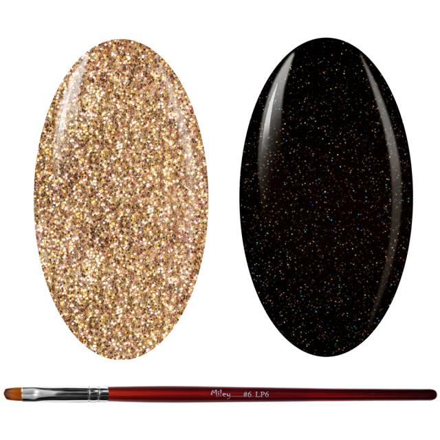 Kit Geluri Color + Pensula Gel Unghii, Cod K2GP-60G/54G imagine produs