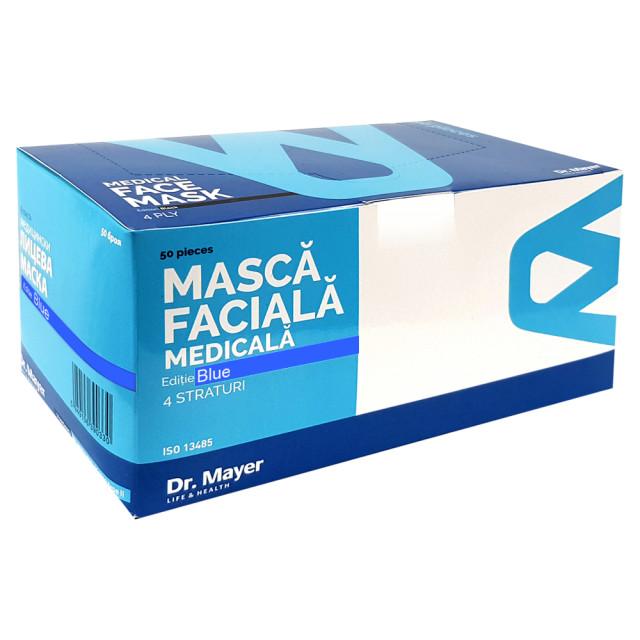 Masti Medicale Protectie cu 4 Straturi Dr. Mayer Blue Edition, Cutie 50 Bucati imagine produs