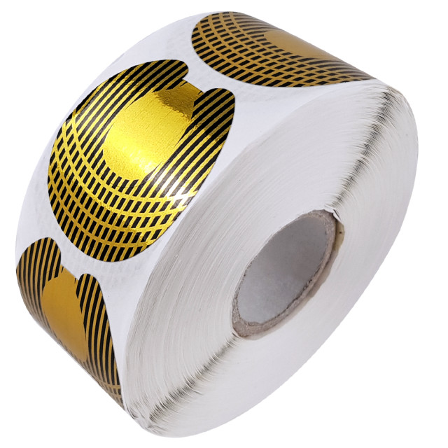 Sablon Prelungit Unghii Rola, Forma Migdala, Cantitate 500 Bucati Auriu imagine produs