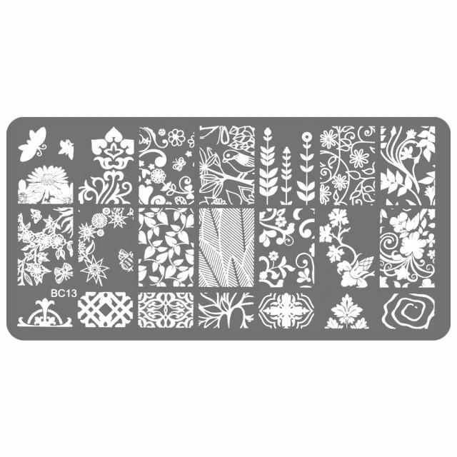 Stampile Unghii, Suport Metalic, BC13, Matrite Unghii Gravate Adanc imagine produs