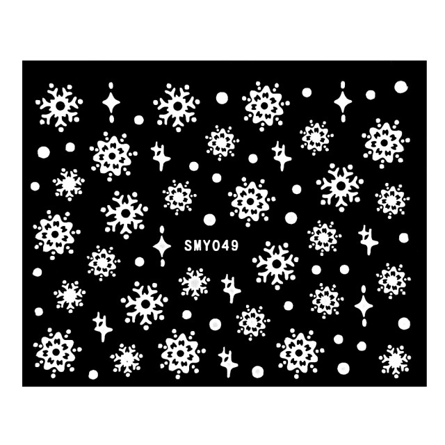 Abtibilde Unghii cu Fulgi de Zapada si Motive Decorative de Iarna Cod SMY049 imagine produs