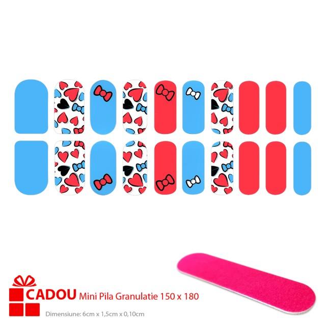 Abtibilde Unghii JY 247, Stickere Manichiura 20 Buc. + Cadou Mini Pila imagine produs
