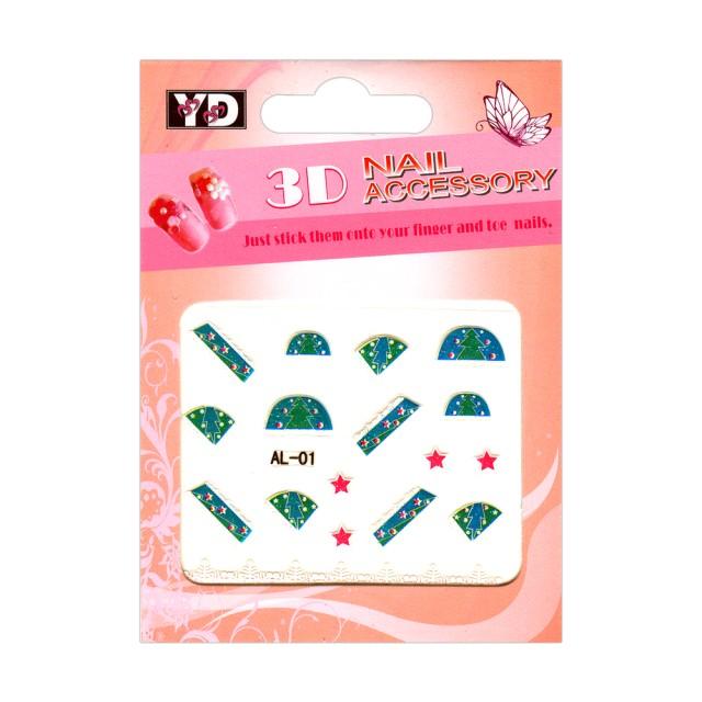 Abtibilde Unghii, Motive Ornamentale IARNA, Cod: AL-01 Stickere Unghii, Tatuaje UNghii, Stickere Manichiura imagine produs