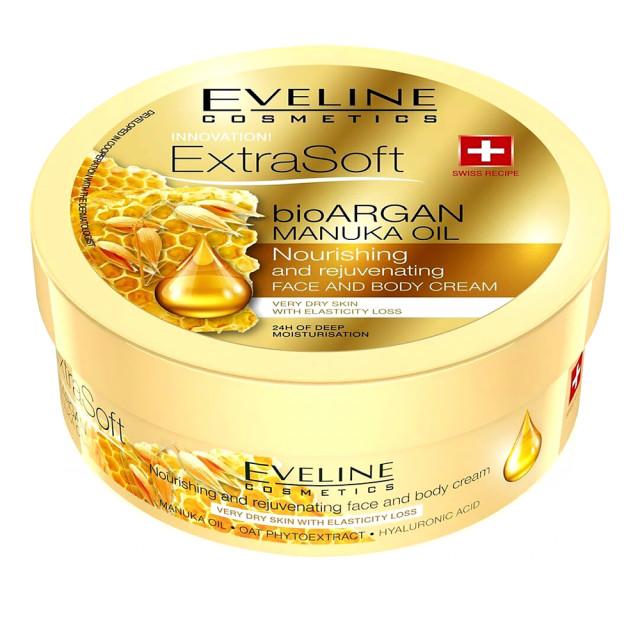 Crema Fata si Corp Eveline Cosmetics Extra Soft Bio Argan Manuka Oil imagine produs