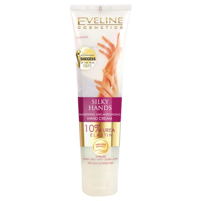 Crema Maini Uscate si Crapate cu 10% Uree Eveline Cosmetics Silky Hands imagine produs