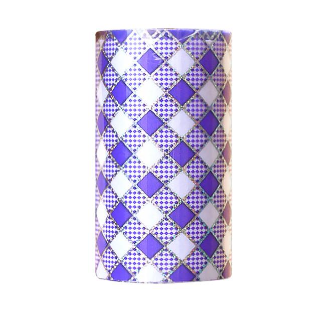 Folie Decorativa Transfer Manichiura, Rhombus Lavander imagine produs