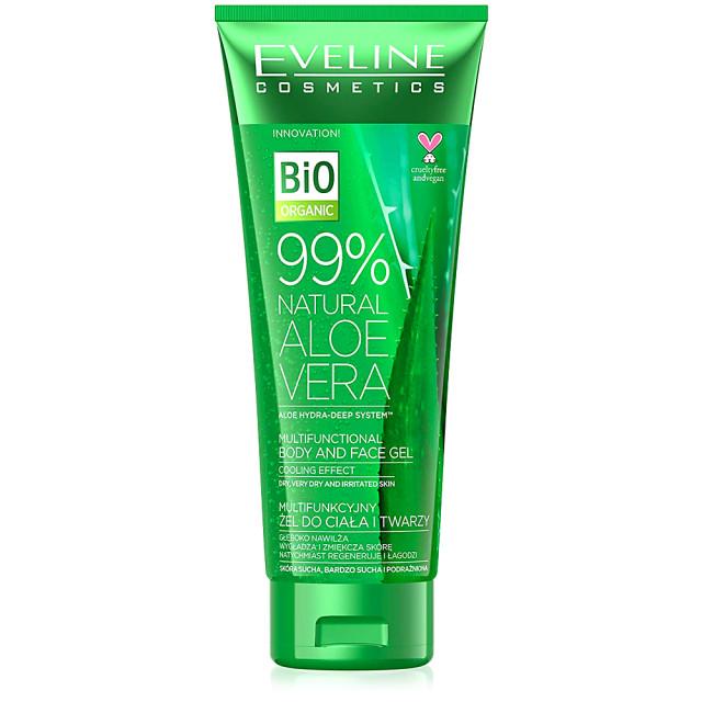 Gel Multifunctional Piele Uscata si Iritata Corp si Fata Bio Organic Aloe Vera Natural 99% Eveline Cosmetics imagine produs